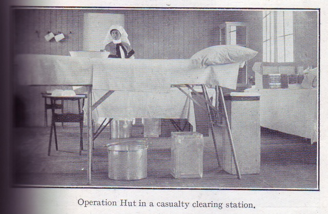 Operation Hut in a casualty clearing station.