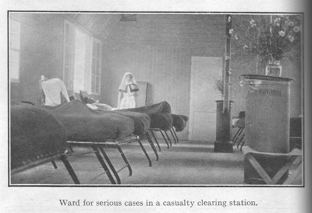 Ward for serious cases in a casualty clearing station